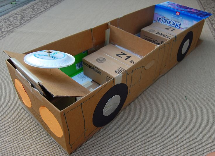 Как сделать машину из коробок