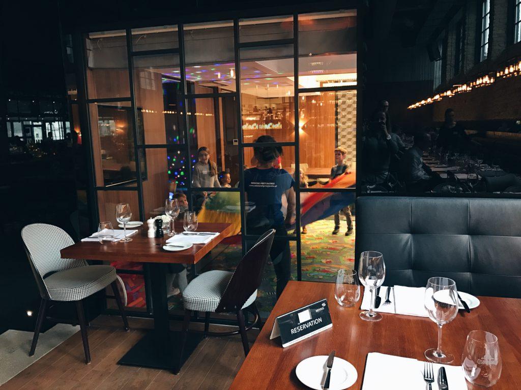 restauracja z animacjami