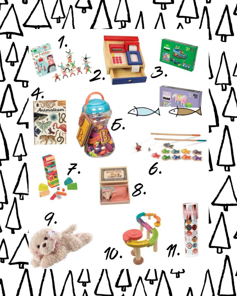 grafika zawierająca prezenty na dzień dziecka 3-4 lata