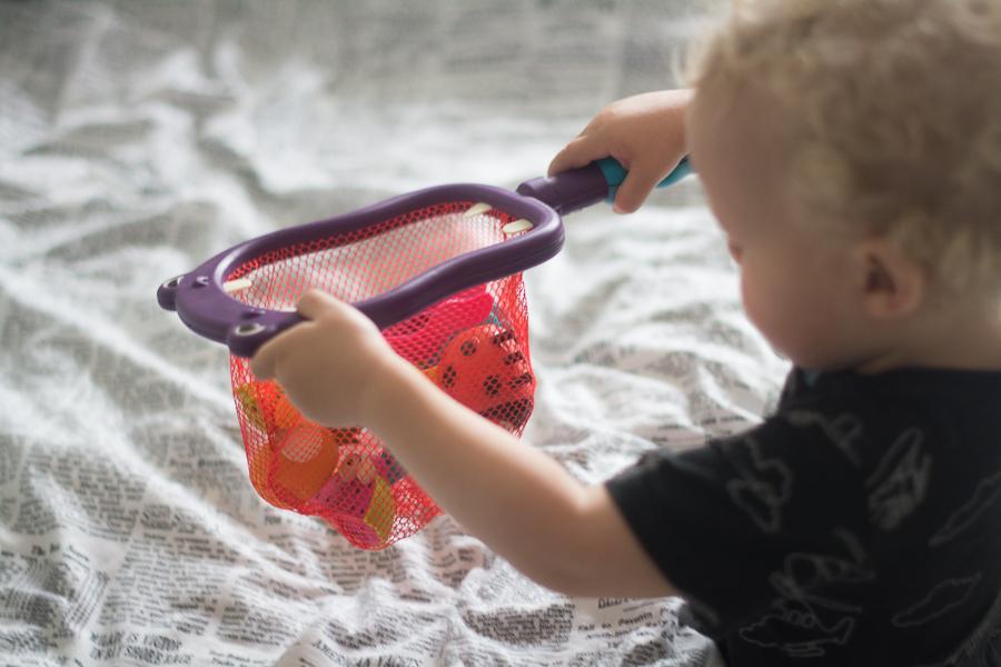 zabawkowa siatka do łowienia ryb