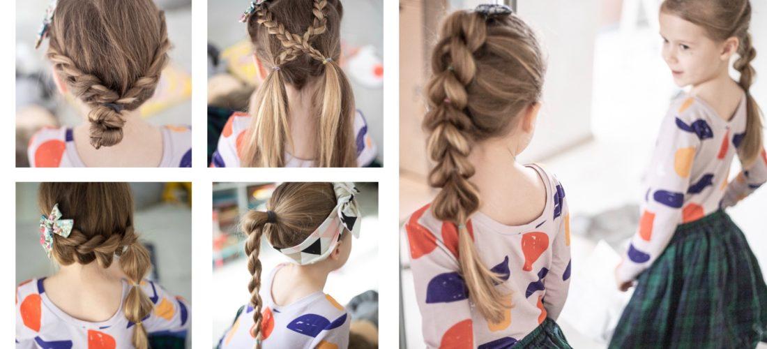 Fryzury dla dziewczynek – 10  pomysłów do szkoły i przedszkola