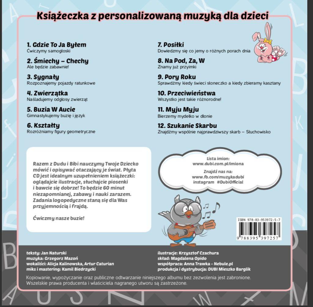 pomysły na prezent na Święta dla dzieci - płyta DUBI