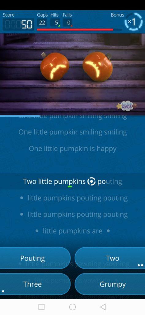 przykład aplikacji karaoke na android w nauce angielskiego dla dzieci