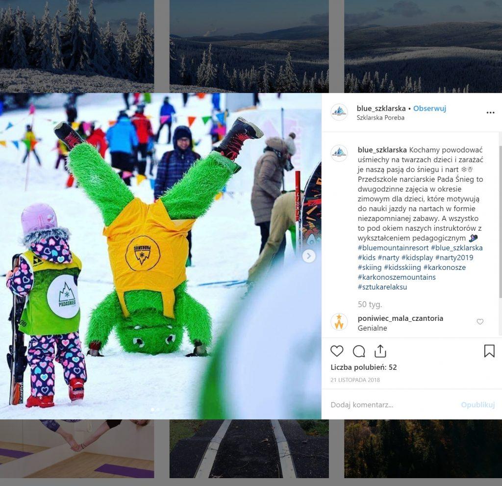 Blue Mountain Resort - zdjęcie z nart w ferie zimowe - atrakcje dla dzieci