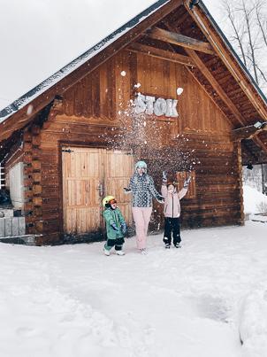 zimowy wyjazd z dziećmi