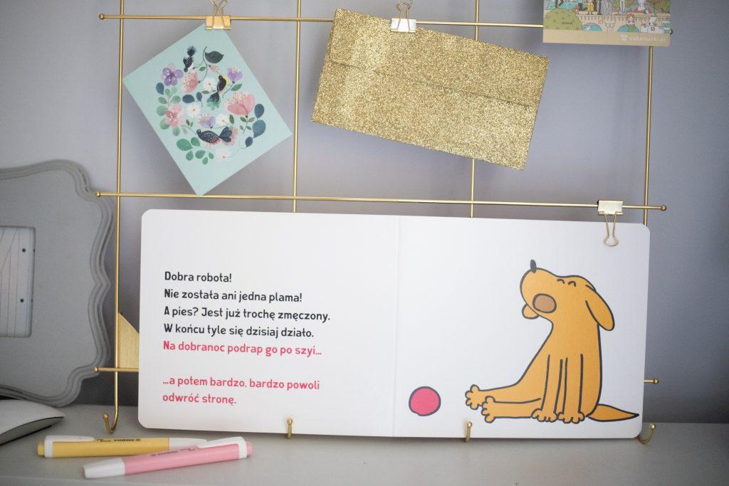 Ta książka jest psem - przykładowa strone środka