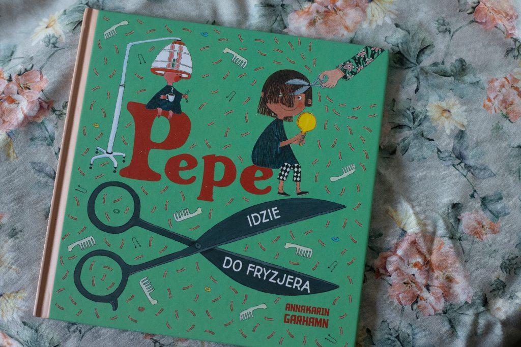 zdjęcie książki dla dzieci - Pepe idzie do fryzjera