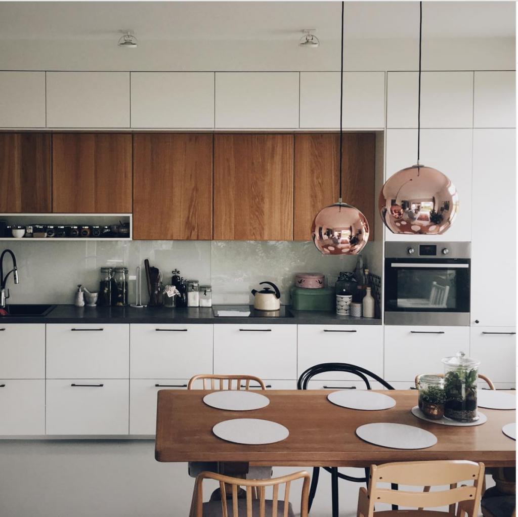rzut na kuchnię - inspiracje
