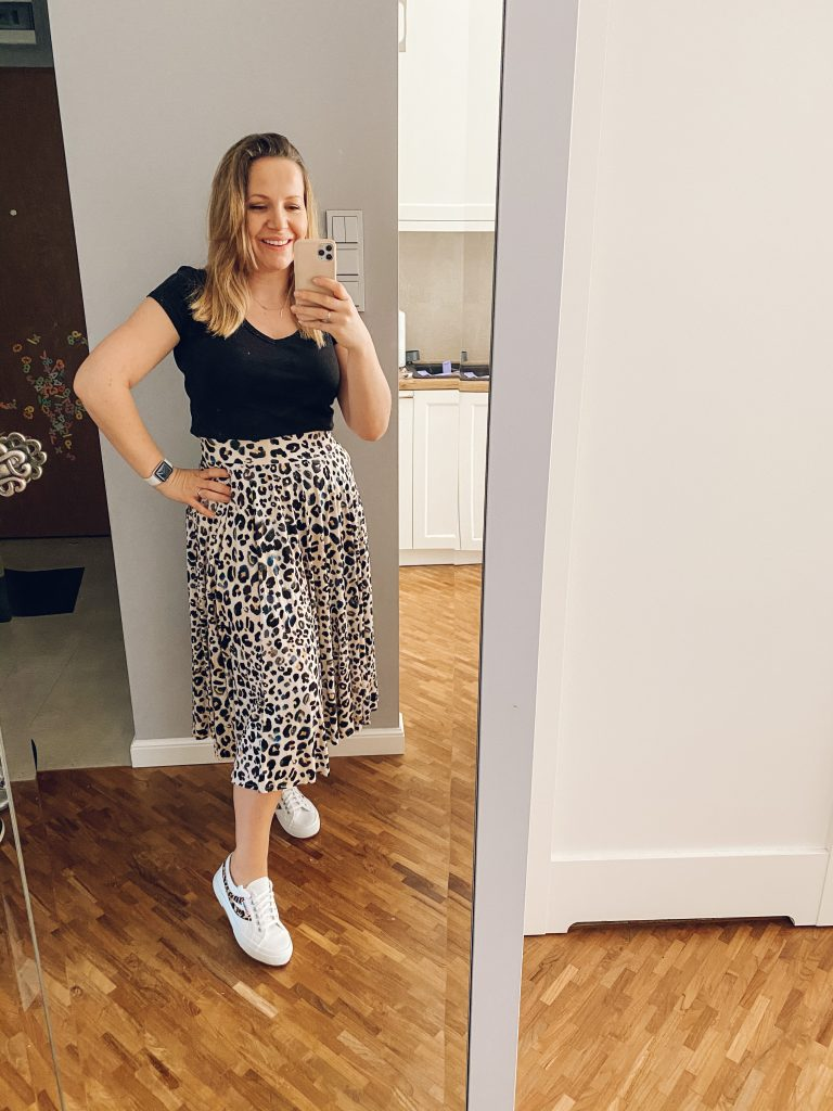 spódnica w panterkę - Stylizacje na wiosnę 2020