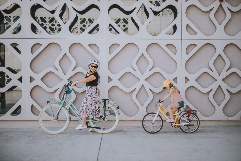 mama i córka na rowerach