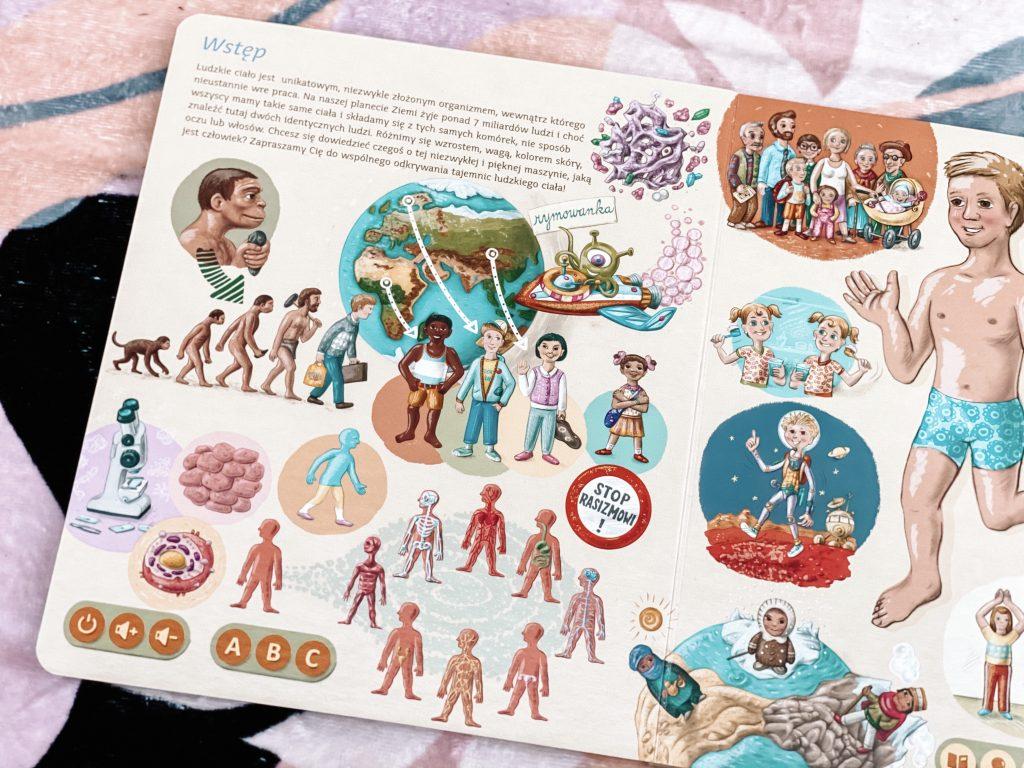 wnętrze książki o ciele człowieka