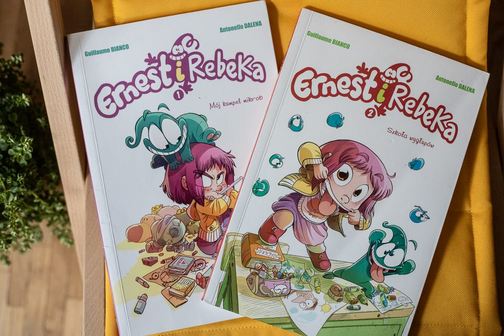zdjęcie okładki - komiks dla dzieci - Ernest i Rebeka