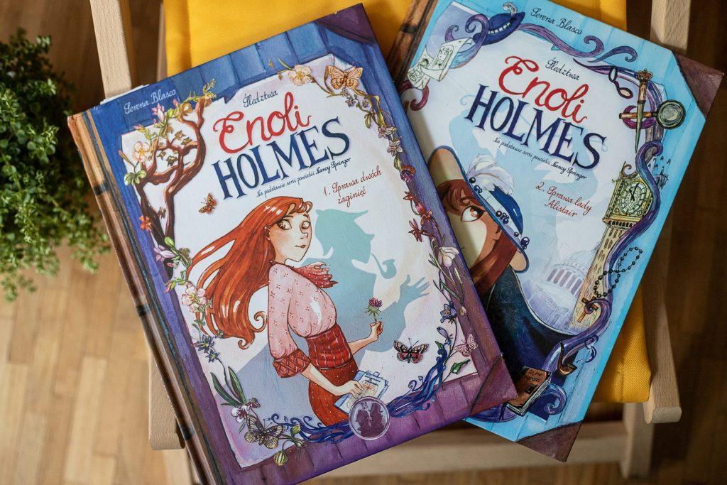 zdjęcie okładki - komiks dla dzieci - enoli holmes