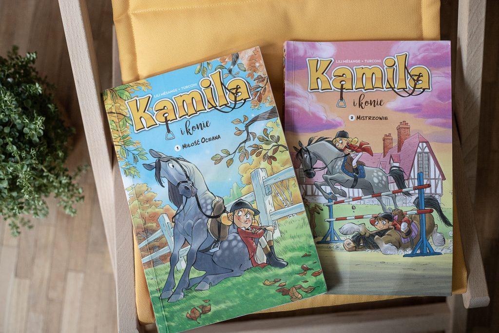 zdjęcie okładki - komiks dla dzieci - Kamila i konie
