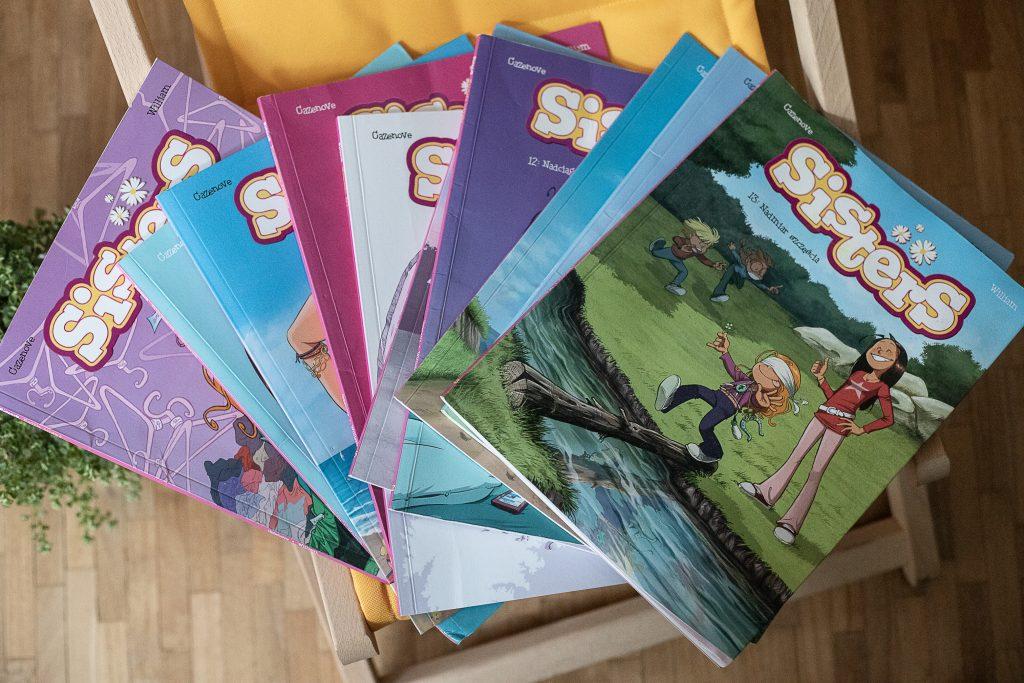 zdjęcie okładki - komiks dla dzieci - Sisters