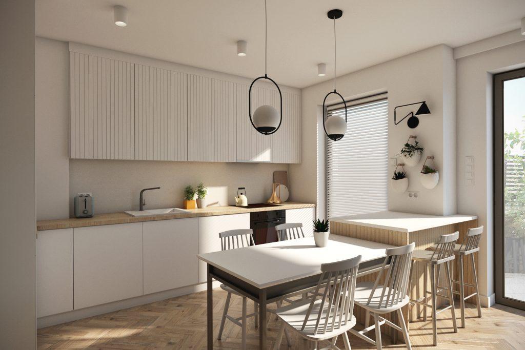 Wykończenie domu - wizualizacja kuchni