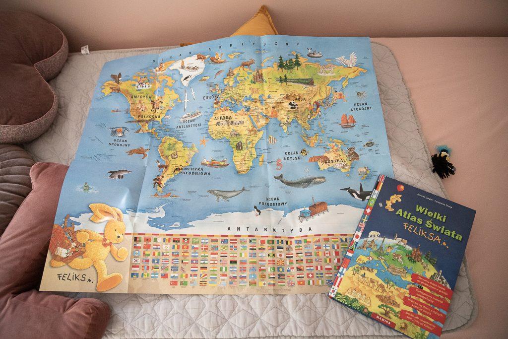 Prezenty dla 8-latka - wielki atlas świata feliksa