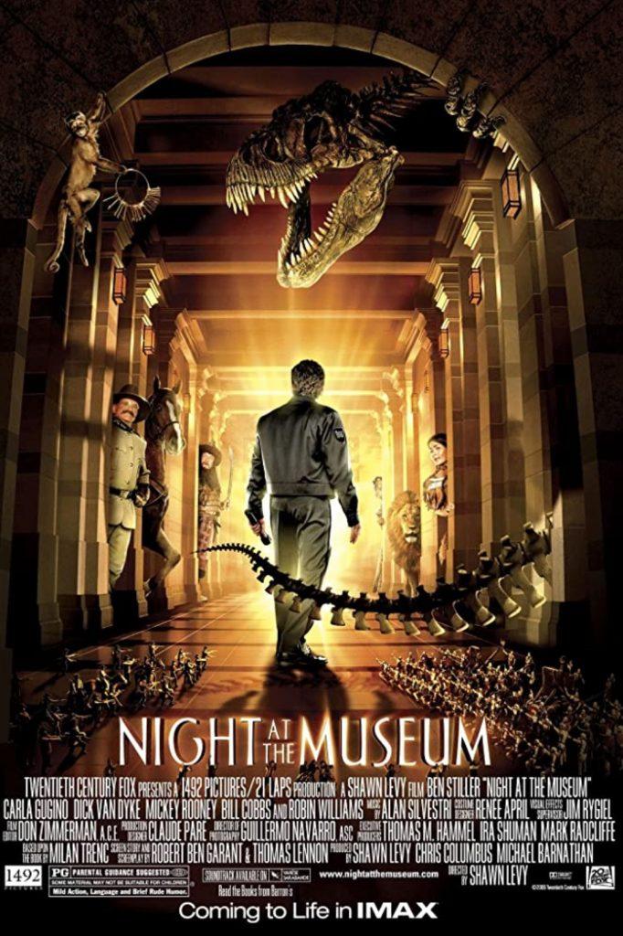 plakat filmu familijnego pt. Noc w muzeum