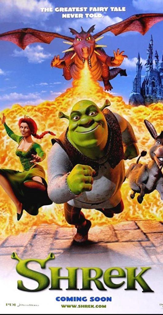 plakat filmu familijnego pt. Shrek