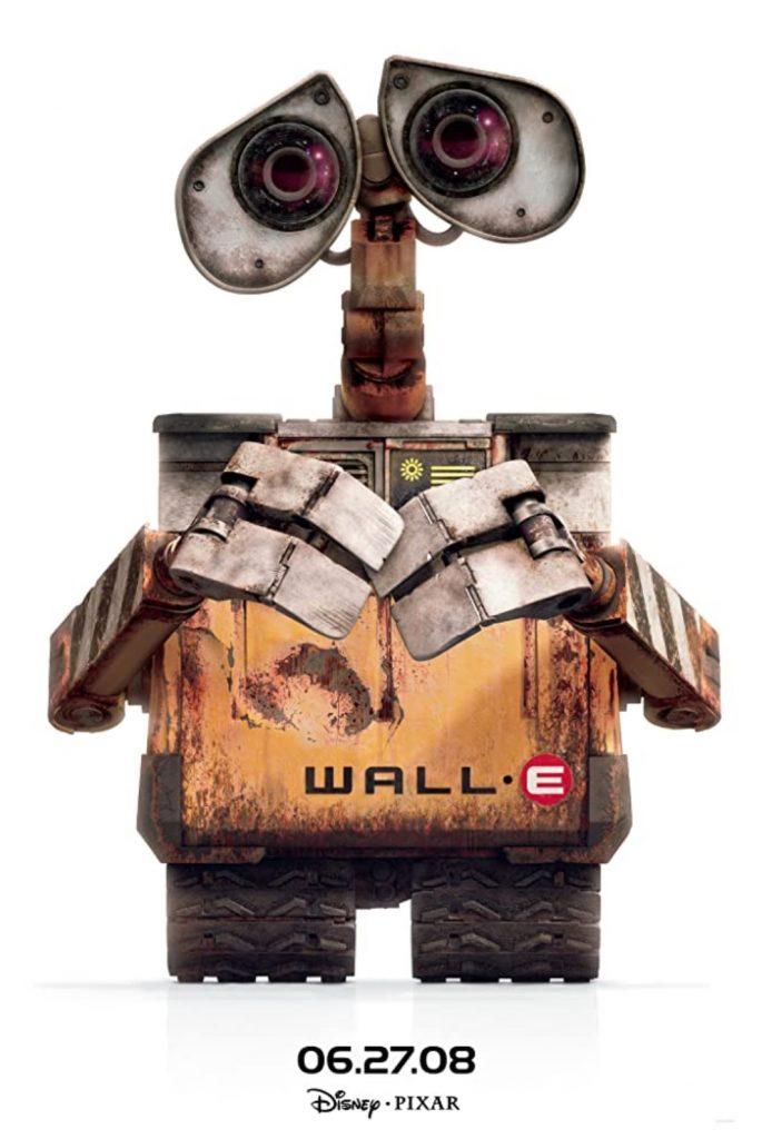 plakat filmu familijnego pt. Wall-e