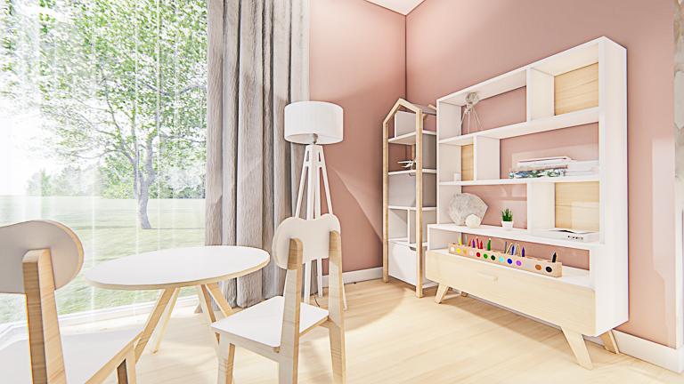 pokój dla dziecka - strefa pracy (zabawy)