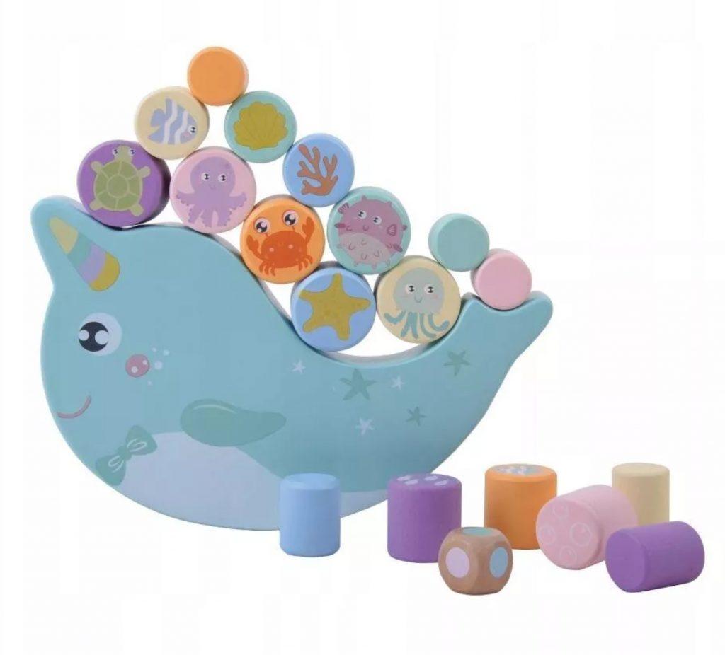 gry zręcznościowe dla dzieci - balansujący delfin