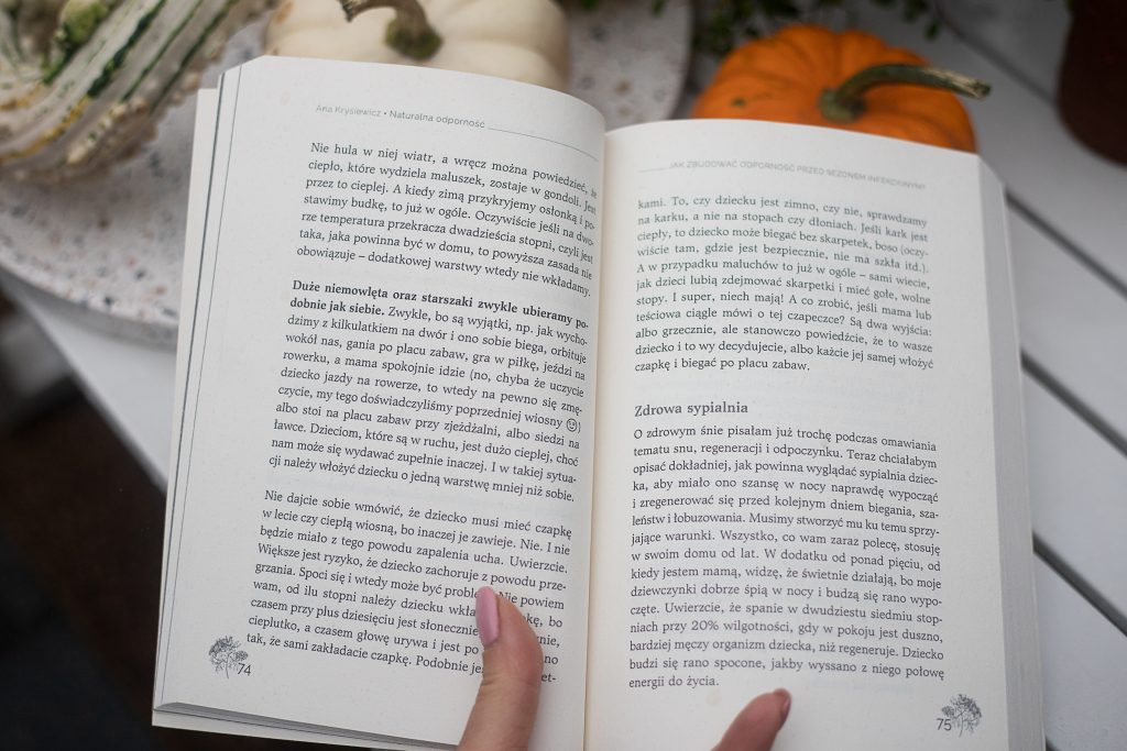 """""""Naturalna odporność"""" - książka Any Krysiewicz - przykładowa strona"""